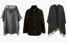 Trendy capes and ponchos