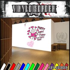 Puffy Puffy fancy cuty baby Graffiti Wall Decal - Vinyl Sticker - Car Sticker - Die Cut Sticker - SM002
