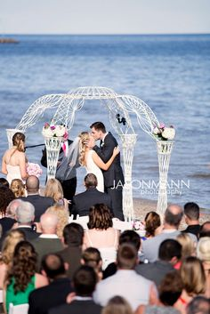 The Kiss Two Rivers Wi Beach Wedding Photo By Http