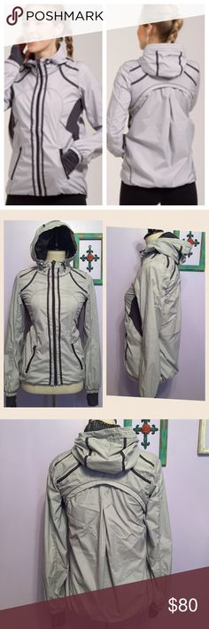 Lululemon Downtime Striped Grey Jacket Excellent condition! Size 4. Track style jacket with lining. Durable water repellent, quick drying, and lightweight with 2 way stretch. Lined with light and airy mesh. Anti stink panels. Soft luon fabric cuffs with thumb holes. Boden music pocket and cord exit as well as two front zipper pockets!  🙅🏻No trades! 💗Offers through the offer button only 📦Bundle and save 15% off your order lululemon athletica Jackets & Coats