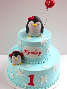 Penguin cake for Karson's first bday!