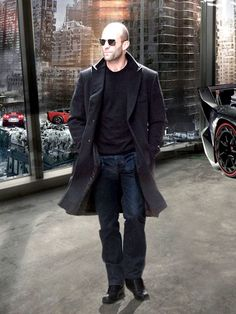 Fast and Furious 7 Jason Statham Long Coat  Coat Features:  Outfit type: Wool FabricGender: MaleColor: BlackFront: Front Button ClosureCollar: Lapel CollarLining: Viscose LiningPockets: Two pockets