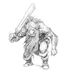 Trudvang Legends Boardgame - Lost Stories (monsters) by Filipe Pagliuso Fantasy Character Design, Character Inspiration, Character Art, Monster Sketch, Monster Art, Fantasy Illustration, Character Illustration, Troll, Gnome