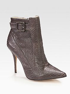 Elizabeth and James Sire Snakeskin Ankle Boots