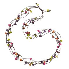 Color Sprinkle Tagua Necklace, made in Colombia, sold through Ten Thousand Villages