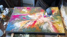 How I Paint This Abstract Art
