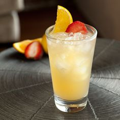 Boston Rum Punch  Contributed by David Wondrich  INGREDIENTS:    2 oz Chairman's Reserve Spiced Rum (personal substitution)   Lemonade*  Garnish: Nutmeg or half a strawberry and an orange slice  Glass: Pint    PREPARATION:  Fill a shaker with finely cracked ice. Add the rum and fill with lemonade. Shake briefly and pour (unstrained) into a pint glass. Add a straw and garnish with either freshly grated nutmeg or half a strawberry and an orange slice.