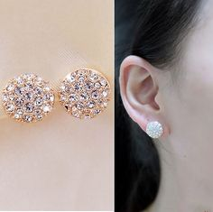 New Arrival Fashion Cute Shinning Female Earrings 10844785 - Earrings - Dresswe.Com