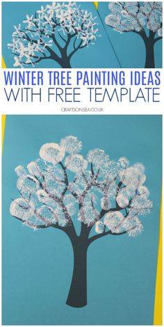 winter tree painting ideas for kids with free template wintercrafts kidscrafts preschool crafts 517702919663501251