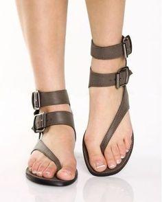 Summer New Women Sandals Casual Brown Flat Sandals