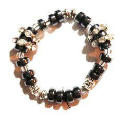 Black bling handmade bracelet