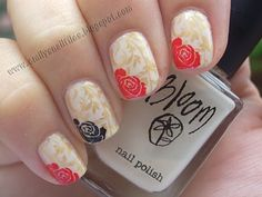Gorgeous! Double stamp with accent nail