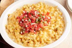 Put a southwest-style spin on your next mac and cheese casserole by adding chopped green chiles and fresh pico de gallo.
