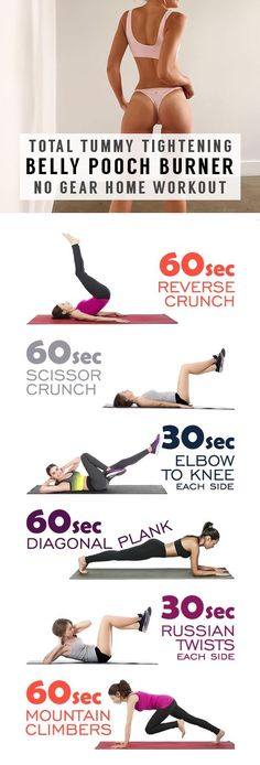 You alone can make the difference at Home - Tummy tightening exercises