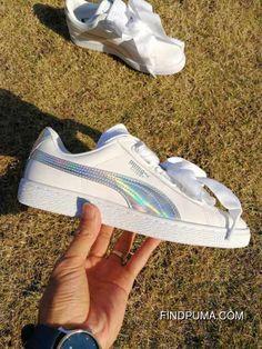 Puma Basket Heart 363626-02 Women White Sneaker Ray New Style abab332ff