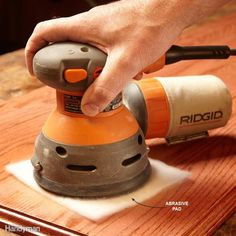 Buff a Finish with a Sander Woodworking Books, Woodworking Projects, Best Random Orbital Sander, Tile Edge, Tool Bench, Wood Projects, Projects To Try, Wood Router, Steel Wool