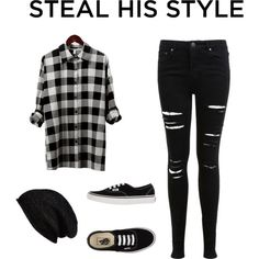 Steal His Style by aylacole on Polyvore featuring polyvore, fashion, style, Miss Selfridge, Vans and Halogen