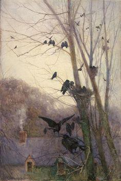 """kzmkwoji: """"Mildred Anne Butler (1858 - 1941) Shades of Evening """""""