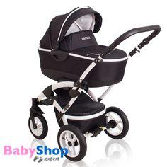 Kombikinderwagen 3in1 Latina kompakt mit Babyschale - schwarz  http://www.babyshop.expert/Kombikinderwagen-3in1-Latina-kompakt-mit-Babyschale_1  #babyshopexpert #kinderwagen #kombikinderwagen