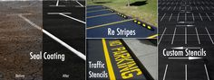 From maximizing the appropriate number of parking spaces to ensuring proper traffic flow to making sure our community members with disabilities have proper access to your facility, ABC provides it all!  Whether you need your existing lines and markings refreshed to brighten things up (a basic relining) or a sophisticated design and layout of newly laid asphalt or seal coat from scratch, ABC Paving & Sealcoating can serve both needs.