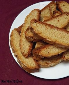 Algerian style biscotti cookies with almonds