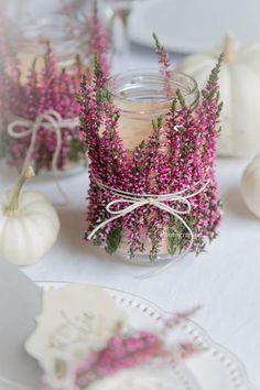 Süße Tischdeko für Gartenhochzeit