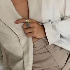 The beautifully stylish mixing metals with both the silver and gold Strata rings. Minimal Jewelry, Minimal Fashion, Metals, Island, Jewellery, Stylish, Rings, Silver, Gold