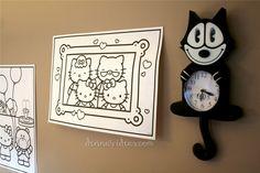 Hello Kitty wall decor for party by dennasideas.com