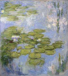 claude monet water lilies | Claude Monet, Water Lilies ( Nymphéas ) 1916–19