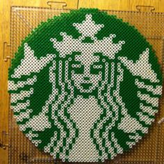 sandylandya@outlook.es  Starbucks logo perler beads by bmachado13