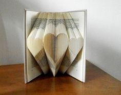Folded Book Art - Wedding gift - Paper anniversary - Girlfriend gift - Gift for him - First anniversary gift - Love - Folded Book Sculpture