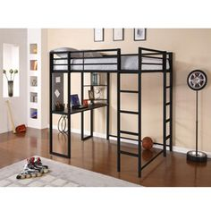 Looking for Bunk Beds & Loft Beds - Full Loft Bed & Loft Beds? Explore our selection of Bunk Beds & Loft Beds Full Loft Bed & Loft Beds on Bunk Beds & Loft Beds at Hayneedle. Loft Bed Frame, Loft Bunk Beds, Bunk Bed With Desk, Modern Bunk Beds, Bunk Beds With Stairs, Modern Loft, Desk Bed, Bed Stairs, Table Desk