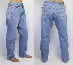 509e56eb Lee Cooper Jeans Vintage Lee Cooper Jeans 80s 90s Jeans Light Blue Jeans  Men's Vintage Jeans Denim