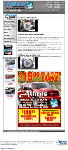 Athens Dodge Chrysler Jeep Email Marketing Campaign  Wilson