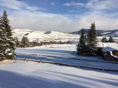 Happy Thursday! We sure are enjoying the view with all this new snow on the ground!
