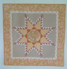 Wall quilt, star made with rulers from Marti Mitchell, fabrics mostly from Fig Tree quilts.