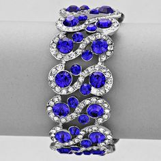 Shire Royal Blue Crystal Bracelet Elegant Formal Jewelry