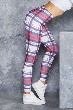 Picnic Plaid HWMF Leggings - 48HR ($75AUD) by BlackMilk Clothing