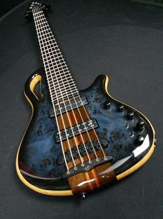 Mayones Caledonius Classic 6 Eye Poplar top Dirty Blue Burst Gloss finish