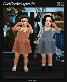 Toddler Krystine Set for The Sims 4