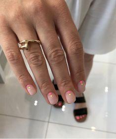 Nail Shapes - My Cool Nail Designs Love Nails, How To Do Nails, Pretty Nails, How To Nail Art, Minimalist Nails, Essie, Nagellack Design, Valentine's Day Nail Designs, Dot Nail Art