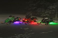 snowmobiles | Yes that is right, neon lights for snowmobiles.