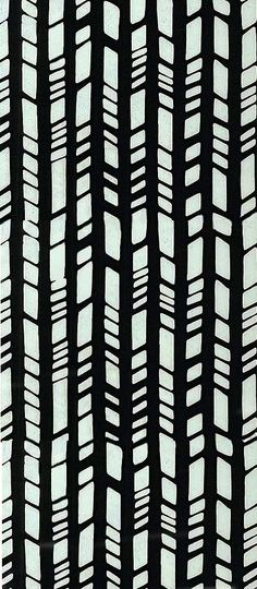 www.equilter.com, this design looks like bamboo shoots. the designer has creatred a pattern with the layering of the thick vertical lines. thereis intrest added to the design by the horizontal lines. the target audience for this design is people who are interested in this style of works.