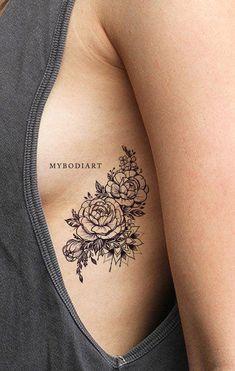 Popular Black Mandala Black Floral Flower Rose Rib Tattoo Ideas for Women - idea. - Popular Black Mandala Black Floral Flower Rose Rib Tattoo Ideas for Women – ideas de tatuaje de c - Mandala Tattoo Design, Dotwork Tattoo Mandala, Tattoo Designs, Tattoo Ideas, Floral Mandala Tattoo, Floral Foot Tattoo, Flower Mandala, Rose Rib Tattoos, Flower Tattoo On Ribs