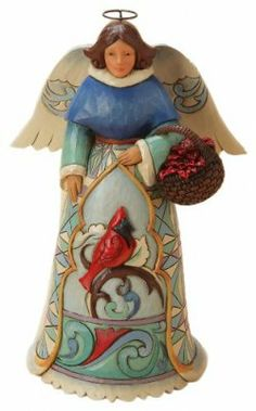 Winter Angel with Cardinal figurine by Jim Shore