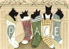 12+Christmas+cards+Scottish+terriers+scotties+by+watercolorqueen,+$14.99