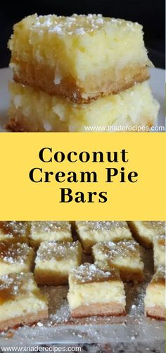 Triade Recipes: Satisfy 5 Coconut Dessert Up Your Mood Coconut Cream Dessert, Coconut Meringue Pie, Coconut Desserts, Coconut Cookies, No Cook Desserts, Coconut Recipes, Baking Recipes, Snack Recipes, Dessert Recipes