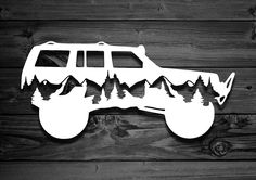 Mountain Vinyl Decal For Jeeps Car Decal Wrangler Decal Cherokee Sport, Jeep Cherokee Xj, 1999 Jeep Grand Cherokee, Jeep Stickers, Jeep Decals, Vinyl Decals, Jeep Zj, Jeep Cherokee Accessories, Jeep Accessories