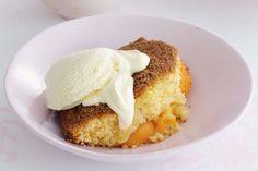 Summer Desserts, Just Desserts, Peach Delight, Australian Desserts, Yummy Treats, Sweet Treats, Coconut Pudding, Single Serve Desserts, Peach Cake