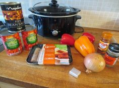 Me add three: Easy slow cooker Quorn sausage and bean casserole Slow Cooker Curry, Healthy Slow Cooker, Healthy Meals, Slow Cooker Recepies, Cooker Recipes, Crockpot Recipes, Sausage And Bean Casserole, Slow Cooker Slimming World, Quorn Recipes